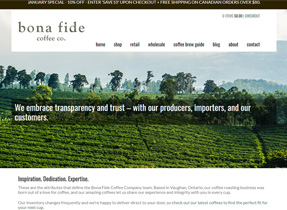 bonafide coffee bean website