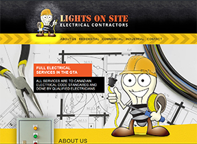 lights on site website