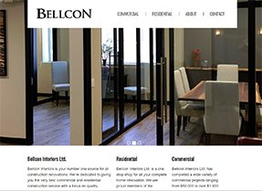 bellcon interiors web site