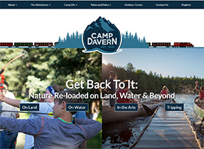 camp davern website