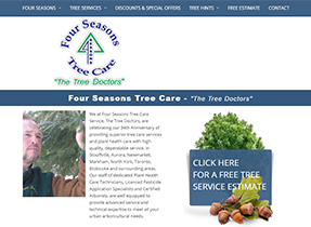 four seasons tree care web site