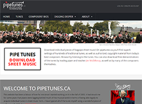 pipetunes web site