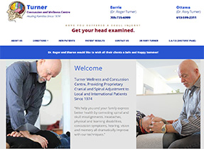 turner concussion and wellness centre website